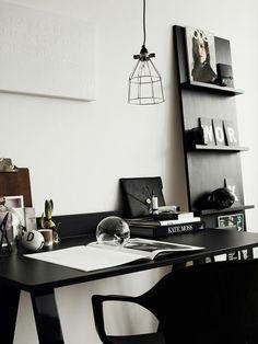 A elegância do preto e branco no décor