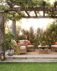 Arbor-Covered Outdoor Space