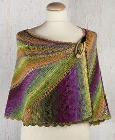 "Shawl ""Orchid"" associated sectional knitting - Crafts"
