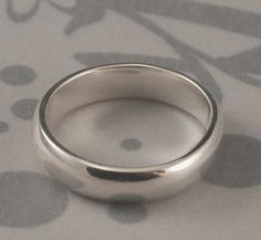 Nice simple choice: Plain Jane 5mm Wide Solid Sterling Silver Wedding by debblazer, $40.00