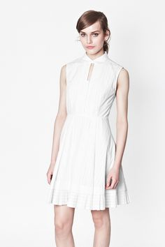 Pixel Cotton Shirt Dress - Dresses - French Connection Usa  http://www.tanyaburr.co.uk/?blog=blogs/archive/2014/02/19/white.dress.petal.bag.at.burberry.aw14.show.aspx