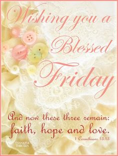 Have a blessed Friday! ❤️