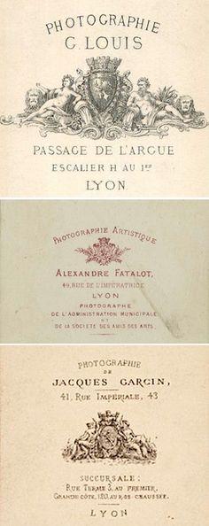 Trois photographes lyonnais …… G. LOUIS - Alexandre FATALOT - Jacques GARCIN