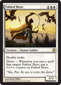 Fabled-Hero-x4-Magic-the-Gathering-4x-Theros-mtg-rare-card-lot-rare-white-NM