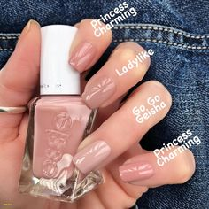 Pin on Nails World 30 Beautiful Picture of Essie Nail Polish Swatches 30 Beautiful Picture of Essie Nail Polish Swatches, 30 Beautiful Picture of Essie Nail Polish Swatches Neutral Nails, Nude Nails, Pink Nails, My Nails, Diy Gel Nails, Glitter Nails, Oval Nails, Shellac Nails, Matte Nails