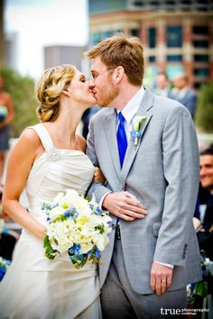 """Elegant Touch Floral Designs Adds """"Something Blue"""" To A Downtown San Diego Wedding"""