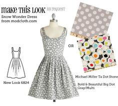 (via Make This Look: Snow Wonder Dress - The Sew Weekly Sewing Blog & Vintage Fashion Community) Sewing Inspiration