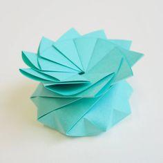 Origami Quasi Crystalline Tato Gift Box - Turquoise Origami Gift Box, Christmas Origami, Little Boxes, Wedding Favours, Gift Boxes, Small Gifts, Favors, Mandala, Turquoise
