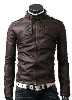 handmade Men Dark brown Leather Jacket men brown by ukmerchant, $139.99