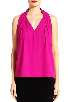 Great top that allows for a statement necklace and perfect for skype or videos. Reagan Top