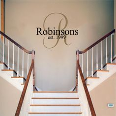 Robinsons... :) Vinyl Wall DecalMonogram with last name by TMVinylDecals on Etsy, $35.00