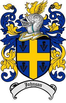 Escudo de armas de la familia / Johnson