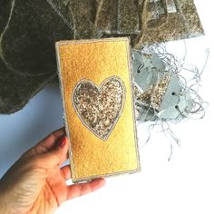 Coffee lover card from handmade paper whit real coffee. #handmadecard