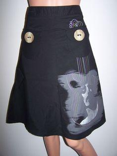 L Furst Clothing Skirt Size 4 Black Designer A-Line Gorgeous Skirt  #LFurst #ALine