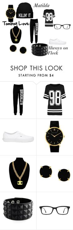 """Matilda"" by takalyn-fowler on Polyvore featuring Vans, Larsson & Jennings, Chanel, Vince Camuto and Ray-Ban"