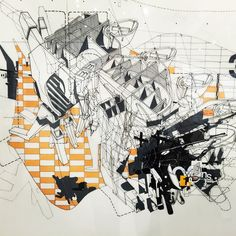 by rachaelmccall Hand Drawings: Dirty Geometries & Mechanical Imperfections: Bryan Cantley (SCI-Arc Gallery)