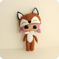 Peek-a-Boo Fox patrón Kit por Gingermelon en Etsy