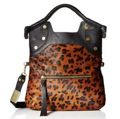NEW Foley & Corinna FC Lady Tote Cross-Body Medium Cowhide Leopard Bag  #FoleyCorinna #TotesShoppers