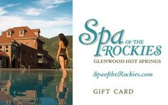 Purchase a gift card good for any treatments or services at Spa of the Rockies in the Hot Springs Lodge, Glenwood Springs, Colorado Spring Resort, Body Treatments, Hot Springs, First Love, Colorado, Spa, Vacation, Gift Cards, Places