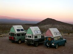Camping, adventure, land cruisers