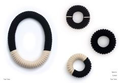 During her MA at the Royal College of Art, designer Eleanor Bolton developed her own craft technique; coiling and stitching cotton rope to create large-scale jewelry pieces