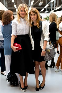 Guest and Princess Beatrice of York attends the Markus Lupfer presentation during London Fashion Week Spring Summer 2015 at on September 13, 2014 in London, England.