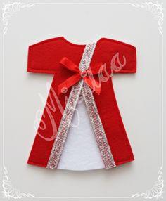 Kırmızı Keçe Kaftan Magnet * Handmade * Kına Gecesi *Keçe * Felt * Feltro * Keçe Magnet / www.misilaa.com