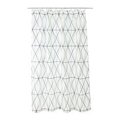 IKEA - FÖLJAREN, Shower curtain, , Densely-woven polyester fabric with water-repellent coating.The elastic sewn into the bottom edge adds weight to the curtain and assures that it hangs straight.