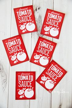 Free printable canning labels for homemade tomato sauce. {Recipe too} #print…