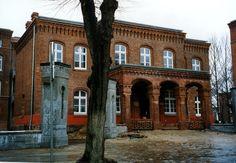 """The Wache and main gate of the 3rd """"von Zieten"""" Hussar Regiment Garrison in Rathenow."""