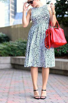 Leopard midi dress,