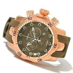 Invicta Reserve Mens Venom Swiss Made Quartz Chronograph Polyurethane Strap Watch