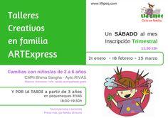 talleres creativos niños y en familia RIVAS