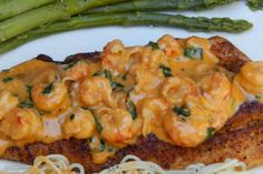 Pan-Fried Speckled Trout with Creamy Crawfish Sauce (replace butter with coconut oil, heavy cream with low-fat yogurt) (Baking Salmon Cajun) Cajun Recipes, Fish Recipes, Seafood Recipes, Cooking Recipes, Healthy Recipes, Cajun Food, Recipies, Creole Recipes, Sauce Recipes