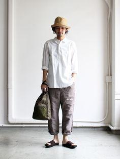 Japan Men Fashion, Mens Fashion, Fashion Outfits, Japanese Street Fashion, High Street Fashion, Monochrome Fashion, Minimal Fashion, Muji Style, Style Masculin