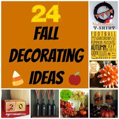 24 Fall Decorating Ideas with Free Printables, too