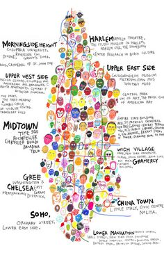 Map of Manhattan- LOVE - also, that little part up at the top, that's Inwood :)