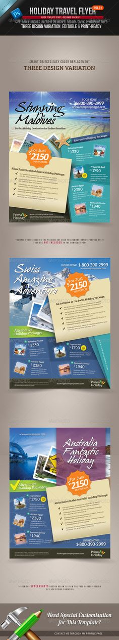 Holiday Travel Flyer Template Vol.01, this template is created for sale on Graphic River. Check out this link to get more info on how to purchase and download the template files:   http://graphicriver.net/item/holiday-travel-flyer-vol01/3209764?r=kinzi21