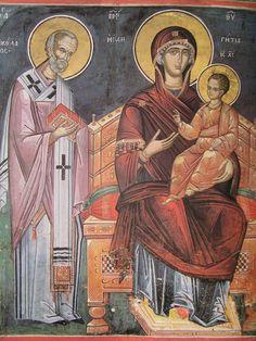 356 Byzantine Icons, Byzantine Art, Christ Pantocrator, Roman Church, Saint Nicholas, Virgin Mary, Ikon, Fresco, Christianity