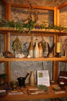 Herbs:  #Herbs ~ The #stillroom at Rye Castle Museum, Sussex, England.