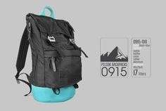 Backpack Pilsok Roll Top 10 BlackBlue Trendy Backpacks by Pilsok