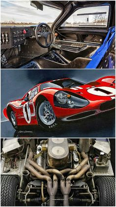 1967 Ford GT40 Mk IV - Winner 1967 Le Mans 24 - Dan Gurney & A.J. Foyt. Americans A. J. Foyt and Dan Gurney, took a surprise win at the 24 Hours of Le Mans on 11 June 1967 when  they led all but the first 90 minutes of the race and defeated the factory Ferrari 330P4 of Italian Ludovico Scarfiotti and Briton Michael Parkes by nearly four laps.