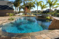 pool paver deck | Pool Construction and Remodeling Gallery | Stone Paver Deck