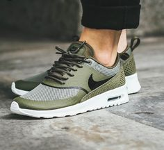 free shipping 69d39 5951c Air Max Thea 2017   olive green summit white Nike Shoes For Men, Women