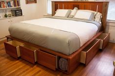 9 Space Making Wood Storage Beds
