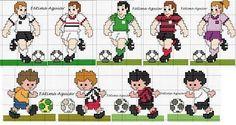 z Cross Stitch Cards, Craft Stick Crafts, Pixel Art, Cross Stitch Patterns, Christmas Stockings, Children, Kids, Soccer, Quilts