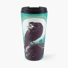 Crow, Travel Mug, Water Bottle, Stainless Steel, Art Prints, Mugs, Printed, Awesome, Black