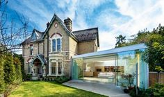 The entire interior of this Victorian home has been reconfigured to work for it's current owners - and it incorporates a striking light-filled extension