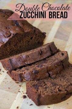 Double Chocolate Zucchini Bread Recipe- Sinful and delicious, this Double Chocolate Zucchini bread will make you do a double-take! (insert cackle laugh) Even though it's loaded with garden fresh zucchini, the chocolate flavor and moist, dense texture take center stage here.