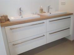 Idée pour la salle de bain et faire pareil pour le banc !